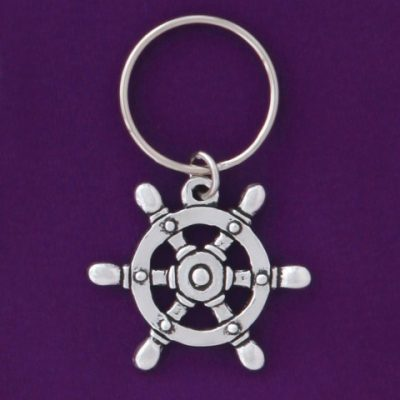 Ship's Wheel Keychain
