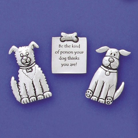 Dogs With Quote Magnet Set