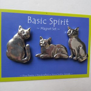Pewter Magnet Set Cats
