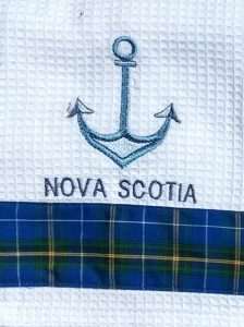 Nova Scotia Anchor Tea Towel