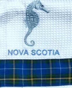 Nova Scotia Seahorse Tea Towel