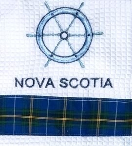 Nova Scotia Ship's Wheel Tea Towel