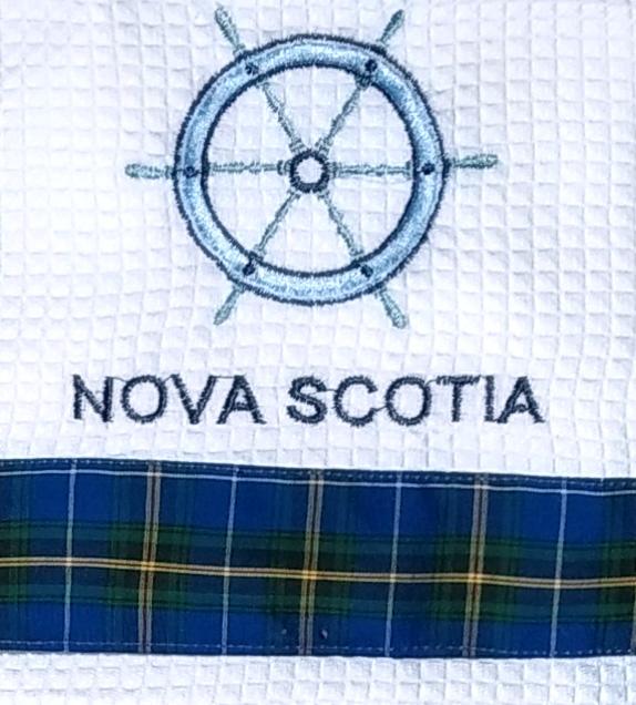 Nova Scotia Ship's Wheel Tea Towel