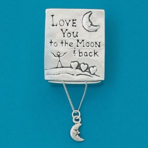To The Moon Wish Box With Moon Necklace