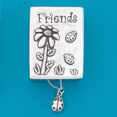 Friends / Ladybug Wish Box With Ladybug Necklace