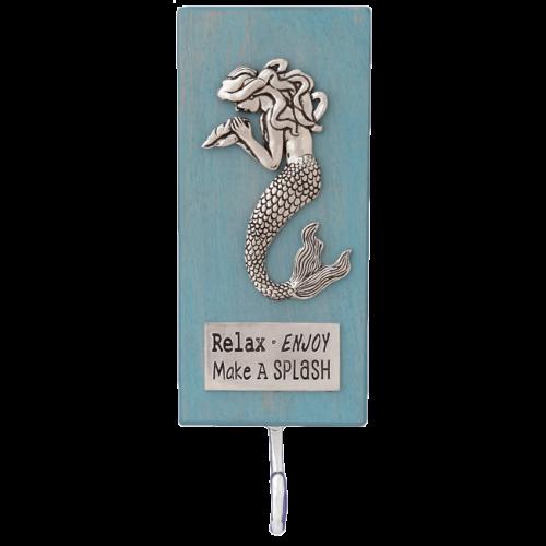 Mermaid Hook On Wood