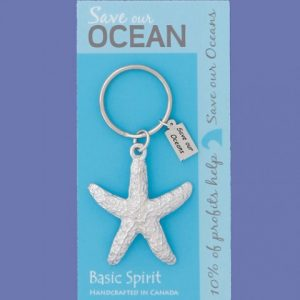 Starfish Save Our Oceans Contribution Keychain