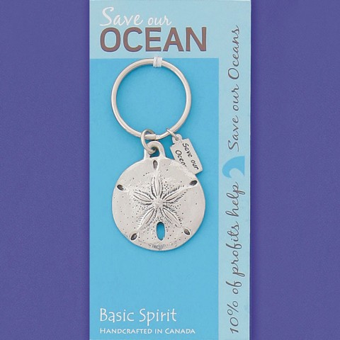 Sanddollar Save Our Oceans Contribution Keychain