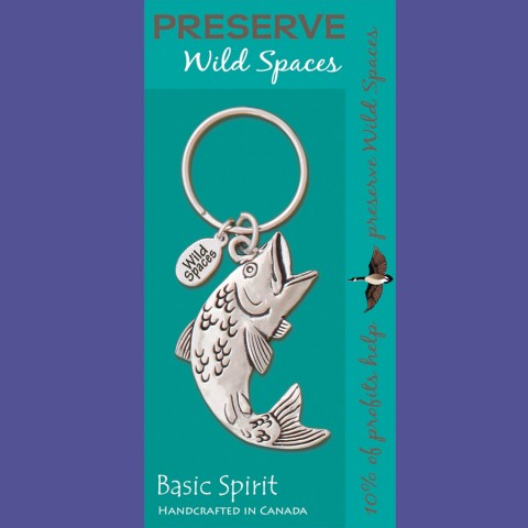 Jumping Fish Wild Spaces Contribution Keychain