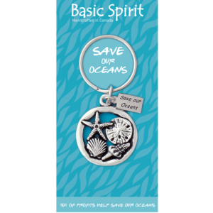 Seashells Save Our Oceans Contribution Keychain