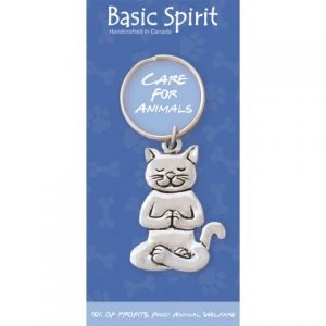 Yoga Cat Global Giving Keychain