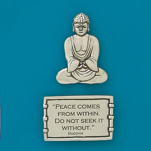 Peace Buddha (2pc) Magnet Set