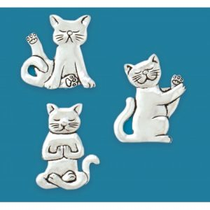 Yoga Cats Magnet Set