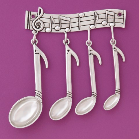 MUSIC MEASURING SPOONS WITH RACK