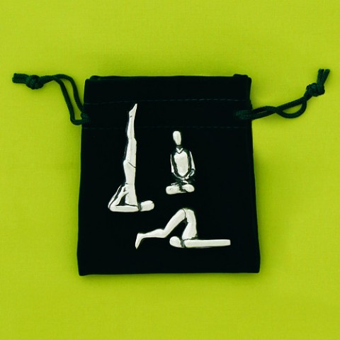 Mini Yoga- Set Of 3 With Pouch Sculpture